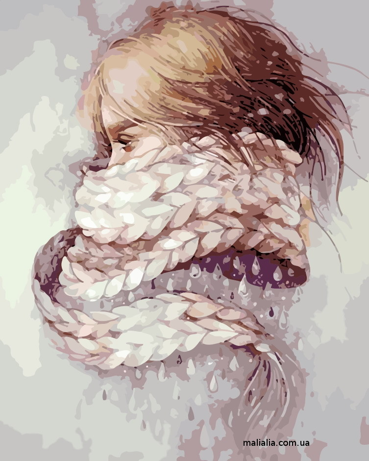Картины по номерам 40*50 см В КОРОБКЕ Девушка-зима Artstory