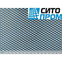 Просечно-вытяжной лист, оцинкованная сталь, ромбическая форма ячейки TP MR10/6x1,2x1/1000x2000, Код: 02532