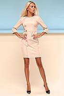 Элегантное Платье Футляр Классика Бежевое S-XL, фото 1