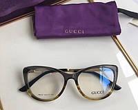Женская пластиковая оправа в стиле Gucci 0137 коричневая, фото 1