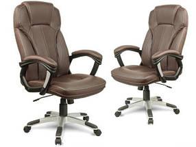 Коричневое офисное кресло компьютерное EAGO (Arizo), фото 2