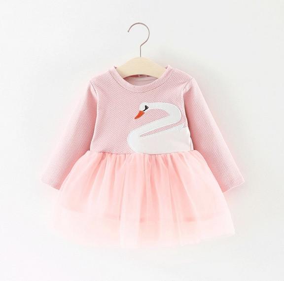 8070aa57f3fc0d Сукня дитяча з лебедем рожева - Інтернет-магазин Зозулька в Тернополе