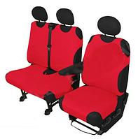 Чехлы майки для микроавтобусов Kegel DV 2+1 красные