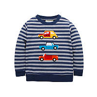 Кофта для мальчика Cars Jumping Beans 7 Темно-синяя с серым (22398)