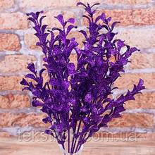 Цветы эвкалипт глиттер фиолетовый 15 см Новогодний декор