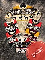 Мужской теплый свите на зиму с оленями + Бесплатная доставка