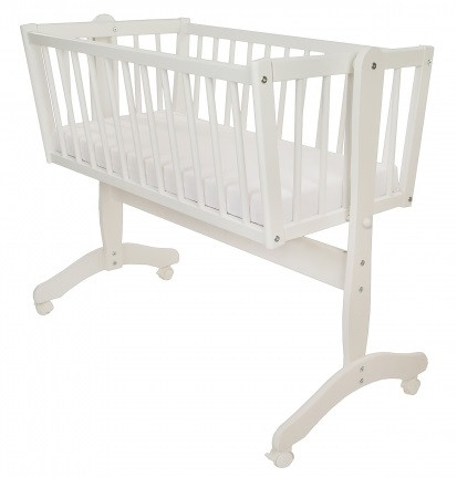 Люлька кроватка (колыбель) Maja Bellamy 90х40см для новорожденных + Матрасик HygienAir Alvi 40х90см
