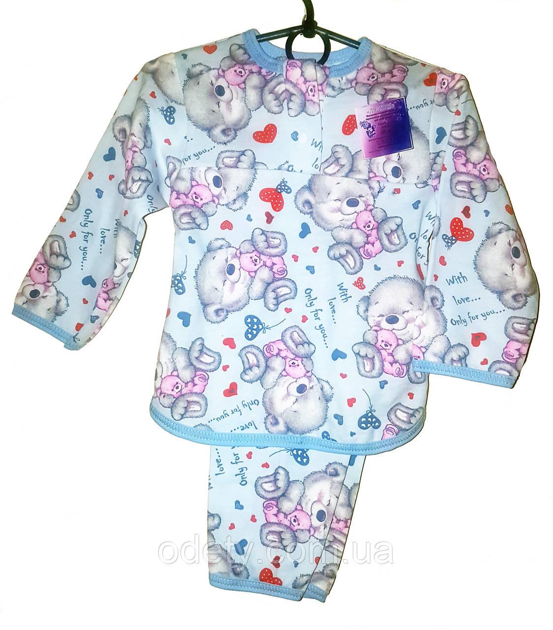 a4edec345fd3f Теплая детская пижама. Пижама детская с начесом на пуговке. Детская пижама  с начесом.