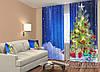 """Новогодние ФотоШторы """"Елка в снегу с подарками"""" 2,5м*2,9м (2 полотна по 1,45м), тесьма"""