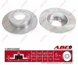 Задний тормозной диск на Рено Мастер II / ABE C4R019ABE