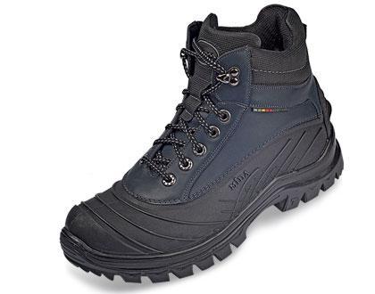 Прорезиненые мужские ботинки  МИДА 14734 синие из натуральной кожи