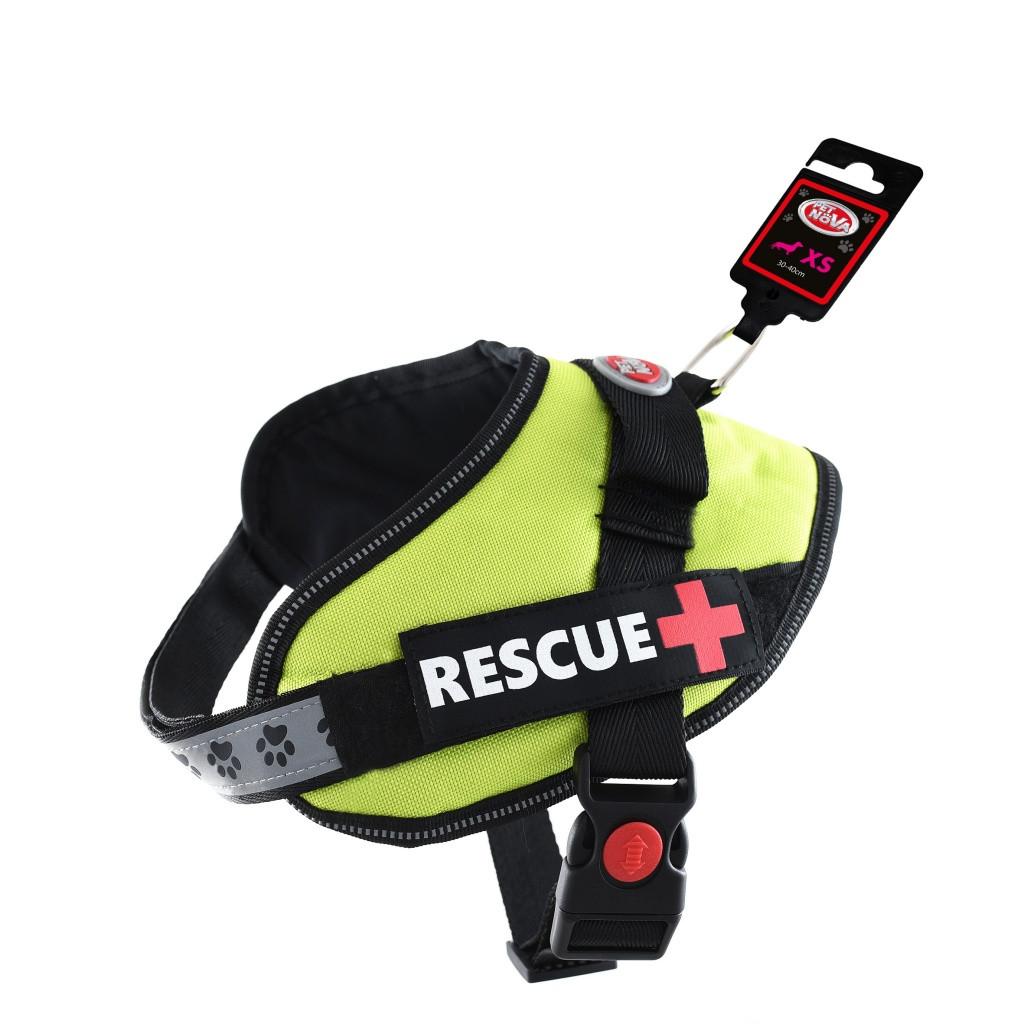 Шлея усиленная Pet Nova Rescue+ XXL 80-110 см Светло-зелёная