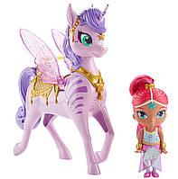 Кукла Шиммер с интерактивным единорогом Shimmer and Shine отFisher-Price