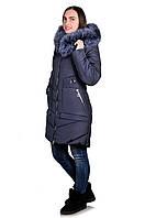 Пуховик женский Lima, Темно-синий, фото 1