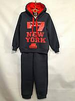 Спортивный костюм детскийдля мальчика, 7-11лет, черный с красным, фото 1