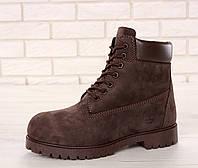 Мужские зимние ботинки Timberland с мехом (dark-brown)