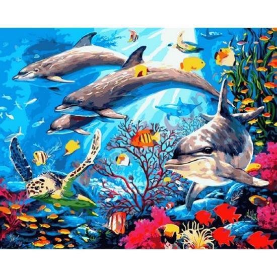Картина по номерам Подводный мир, 40x50 см., Mariposa