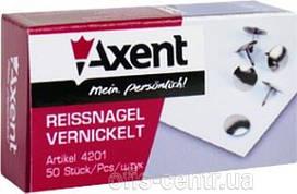 Кнопки 50шт. Axent 4201 никелевые Ш.К. 4250266252019