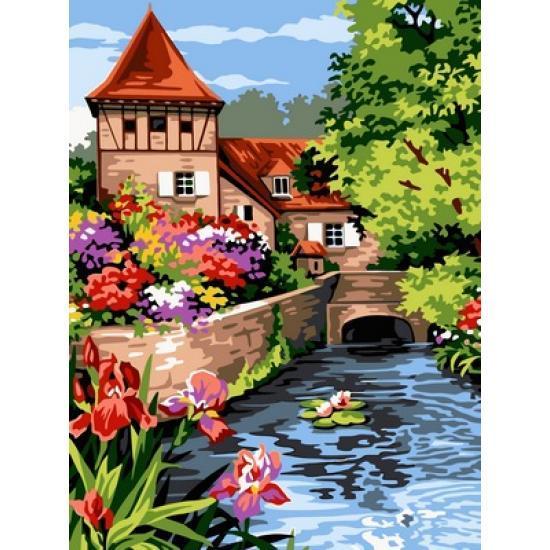 Картина по номерам Мельница в цвету, 30x40 см., Babylon