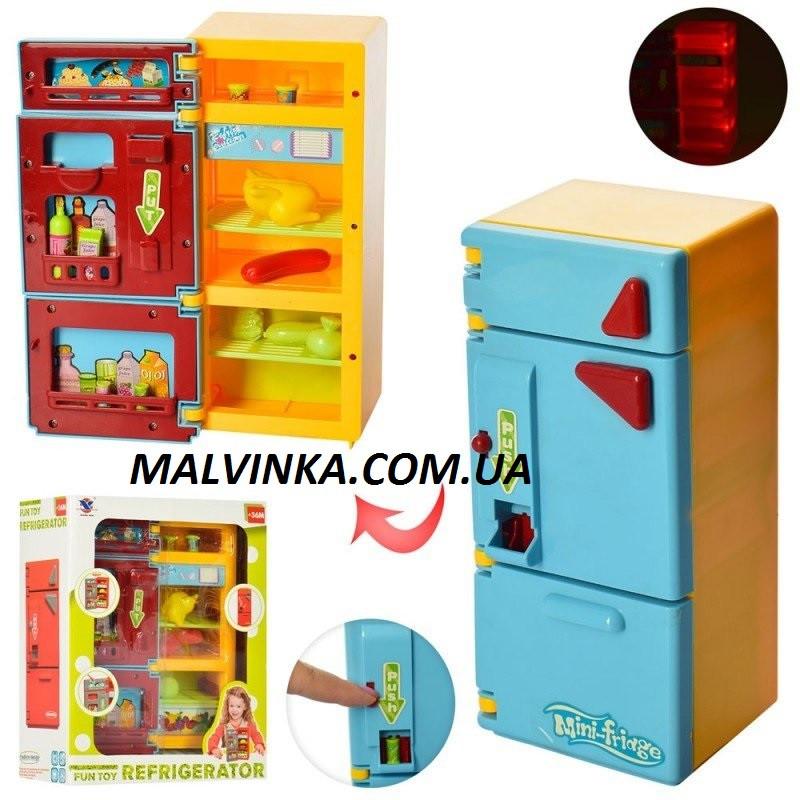 Холодильник арт 14006   22,5см, муз, свет, продукты, на бат-ке, в кор-ке,21-27-10 см