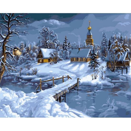 Картина по номерам Зимняя сказка, 50x65 см., Babylon