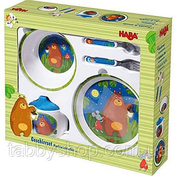 """Набор детской посуды HABA """"Мишка"""""""