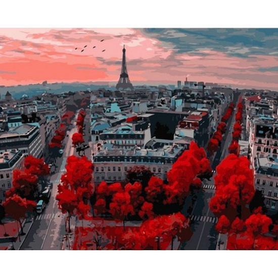 "Картина по номерам ""Алые краски Парижа"", 50x65 см., Babylon"
