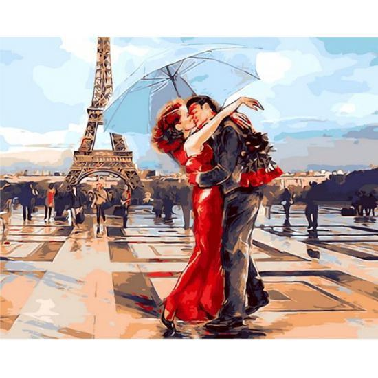 Картина по номерам Париж - город для влюблённых, 50x65 см., Babylon