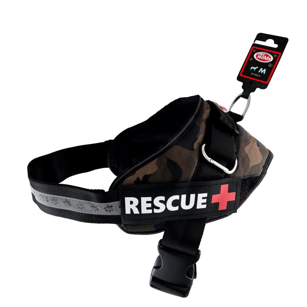 Шлея усиленная Pet Nova Rescue+ L 70-95 см Камуфляж