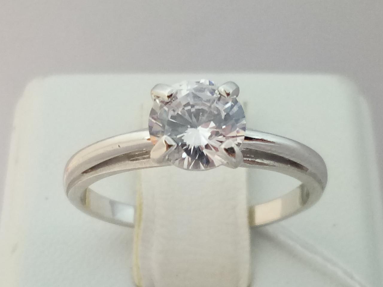 Серебряное кольцо с фианитом. Артикул 14163-Р 16,5