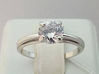 Серебряное кольцо с фианитом. Артикул 14163-Р 16,5, фото 1