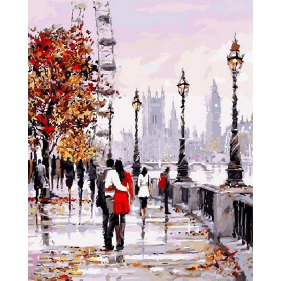 Картина по номерам Осенняя набережная, 40x50 см., Babylon