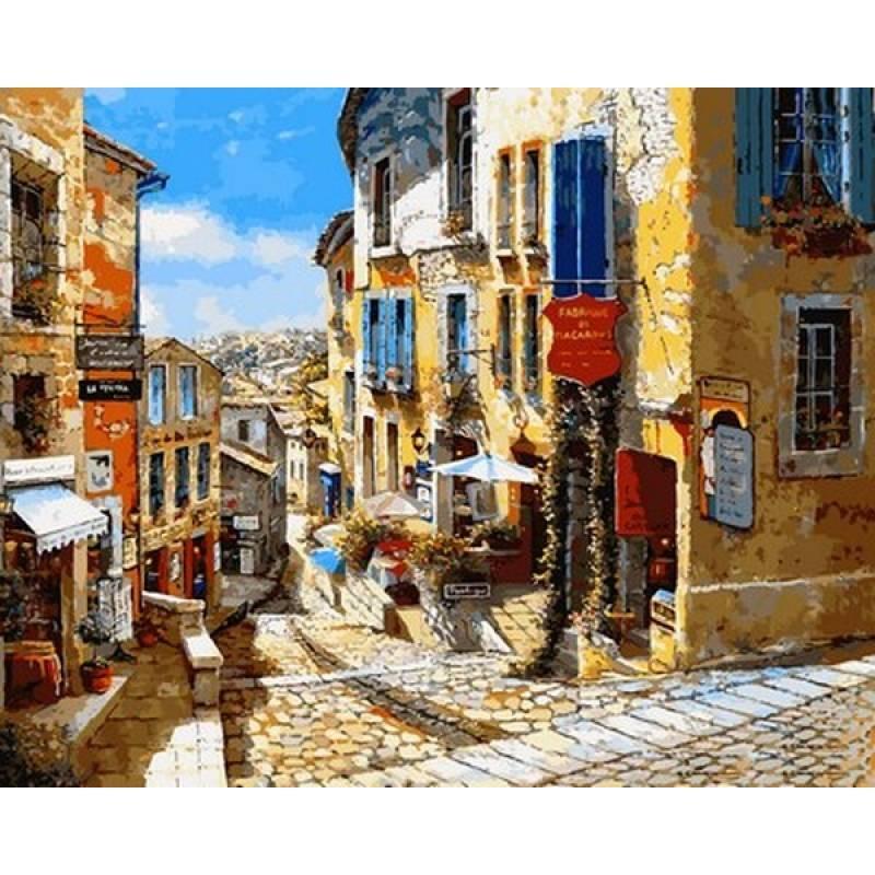 Картина по номерам Очаровательные улочки, 40x50 см., Babylon