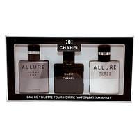 Подарочный набор для мужчин Chanel Eau de Toilette 3х25мл