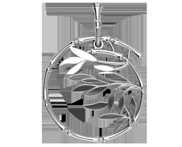 Подвеска - кулон серебряная Ветвь 60190