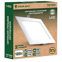 Светильнык потолочный светодиодный ENERLIGHT TETRO 18Вт 4000К ш.к 4823093500631