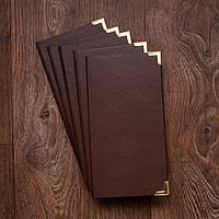 Папка для счета официанта от производителя, шоколад, фото 1