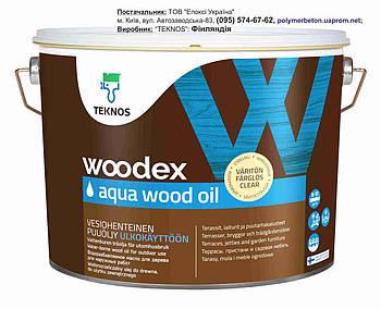Масло для дерева водорозчинне 2,7л, Woodex Aqua Wood Oil, Фінляндія!