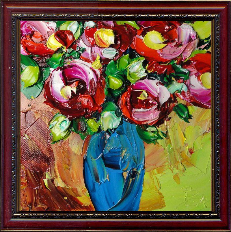 Репродукція сучасної картини «Блакитна ваза» 30 х 30 см
