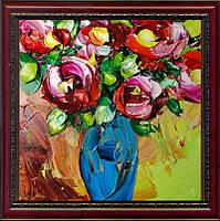 Репродукция  современной картины  «Голубая ваза» 30 х 30 см