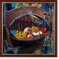 Репродукция  современной картины «Символы Венеции» 30 х 30 см