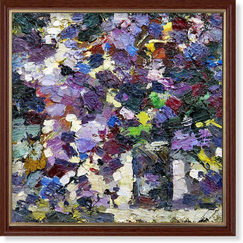 Репродукция  современной картины «Сиреневая экспрессия» 30 х 30 см