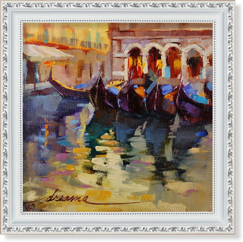 Репродукция  современной картины «Воспоминания о Венеции II» 30 х 30 см