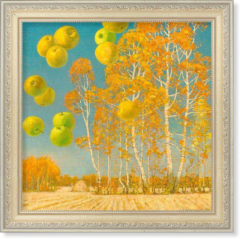 Репродукция  современной картины «Яблочный спас» 30 х 30 см