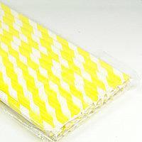 21 см 10 шт./упак. Трубочки бумажные спираль желтые