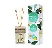 Аромадиффузор SISTER'S AROMA парфюм для помещений Зеленый чай 120 мл, фото 1