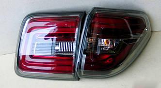 Фонари Nissan Patrol Y62 тюнинг Led оптика V1 (тонированные)