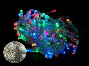 Гирлянда светодиодная 200 led мульти (белый провод), фото 2