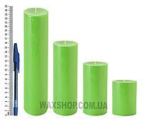 Свеча цилиндрическая, диаметр 6см, салатовый