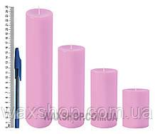Свеча цилиндрическая, диаметр 6см, розовый